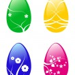 Royalty-Free Stock Vector Image: Easter eggs with flower