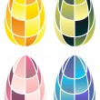 Royalty-Free Stock Vector Image: Stained-glass easter eggs