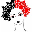 Royalty-Free Stock Vector Image: Red and black woman