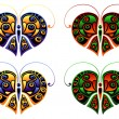 Royalty-Free Stock Vektorfiler: Color butterflies