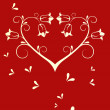 Royalty-Free Stock Vectorafbeeldingen: Romantic floral heart