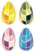 Stained-glass easter eggs — Stock Vector