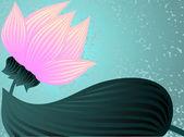 Pink lotus — Stock Vector