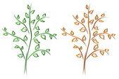 Orange and green trees — Stock Vector