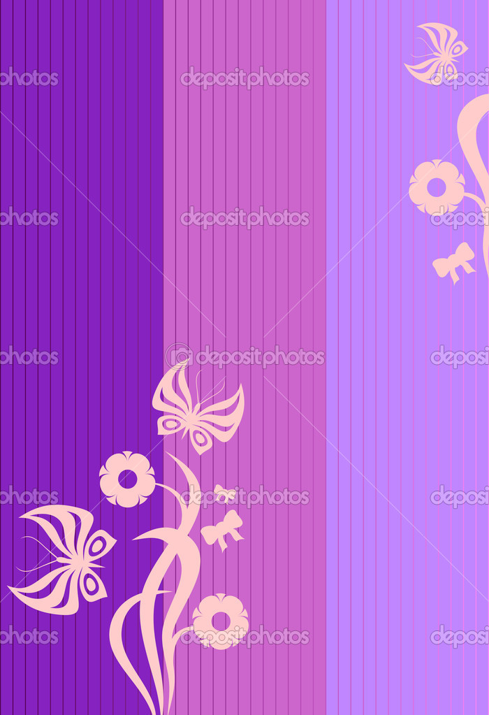 Background with butterflies and flowers — Stock Vector #1016791