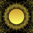 Royalty-Free Stock Vektorfiler: Gold flower
