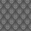 Gray damask pattern - Stock Vector