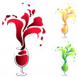 Royalty-Free Stock Vector Image: Glass with wine