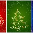 Royalty-Free Stock Vectorielle: Card with stylization New Year tree