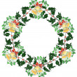 Royalty-Free Stock Vektorgrafik: Christmas wreath with bells