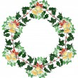 Royalty-Free Stock Imagem Vetorial: Christmas wreath with bells