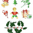 Stock Vector: Traditional Christmas`s set