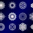 Royalty-Free Stock Vector: Set of snowflake