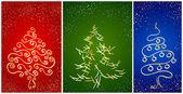 Karta z plugawość nowy rok drzewa — Wektor stockowy