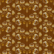 Gilded seamless pattern — Stock Vector
