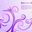 Violet floral background - Stockvektor