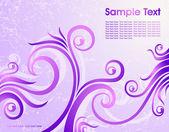 Violet floral background — Stock Vector