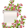 Manuscript with flowers — Stock Vector