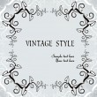 Ornate vintage frame - Stockvektor