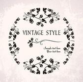 Circle vintage frame — Stock Vector