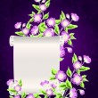 Manuscript with night flowers — Stock Vector