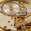 Macrophoto of mechanical watch — Stock Photo