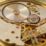 macrophoto van mechanisch horloge — Stockfoto