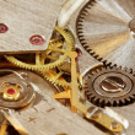Mechanical watch close-up — Stock Photo