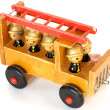 Old toy fire-engine — Stock Photo