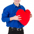Man hold the heart - Stock Photo
