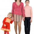 Mother ang daughters — Stock Photo