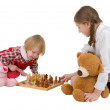 Stock Photo: Girls playing chess