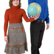 Royalty-Free Stock Photo: Man and woman hold globe