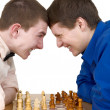 Mans to play chess — Stock Photo