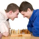 Boys to play chess — Stock Photo