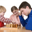 Man and child play chess — Stock Photo #1017258
