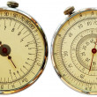 Mechanical measuriment - two sides — Stock Photo