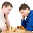 Men play chess — Stock Photo