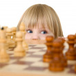 Child ang chess - Lizenzfreies Foto