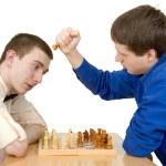 Men play chess — Stock Photo