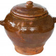 Brown ceramic pot — Stock Photo