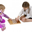 Royalty-Free Stock Photo: Children play chess