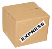 Cardboard box with an inscription expres — Stock Photo