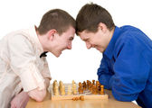 Boys to play chess — Stock Photo