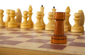 Chess rook;chessman, chessmen — Stock Photo