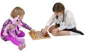 Children play chess — Stock Photo