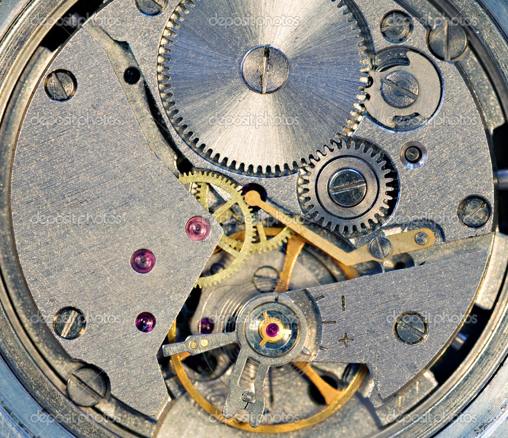 Photo of the mechanism of a watch — Stock Photo #1014116