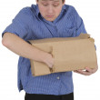 Man is thieved put into hand in box — Stock Photo