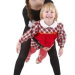 Little acrobat girls — Stock Photo