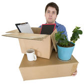 Man moves in other office — Stock Photo